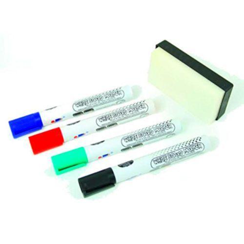 Dry-Erase-Marker-Black-Red-Blue-and-Green-Bullet-Tip-Pack-Of-4-Sharp-Colors
