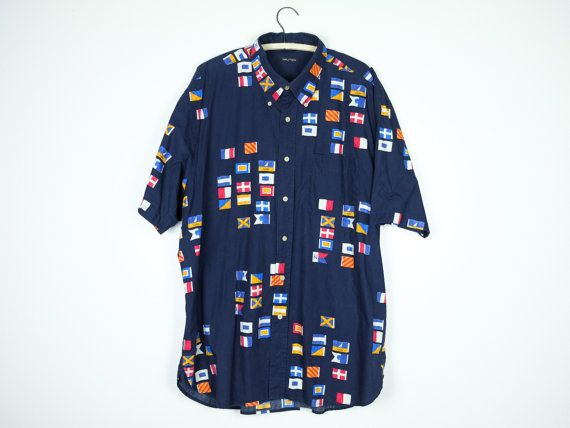 Jungle print short sleeved men's vintage shirt, button down, 1990's vintage, oversize dads button down multi color shirt