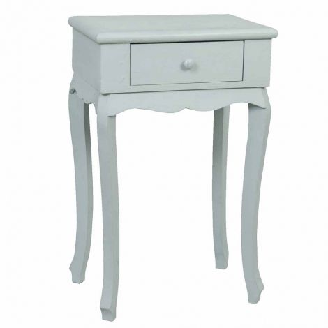 Wooden Nightstand - WhiteCountry #Cottage Retreat: #Clayre&EefHome #accessories with a coveted #French country charm - to create the perfect home retreat. With #romantic #designs, a soft neutral #palette and rustic charm, this collection will transform your #home #interior into an idyllic French country retreat.
