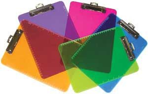 Color-Code Clipboards - Eye-catching clipboards are perfect for organizing papers by class or subject!