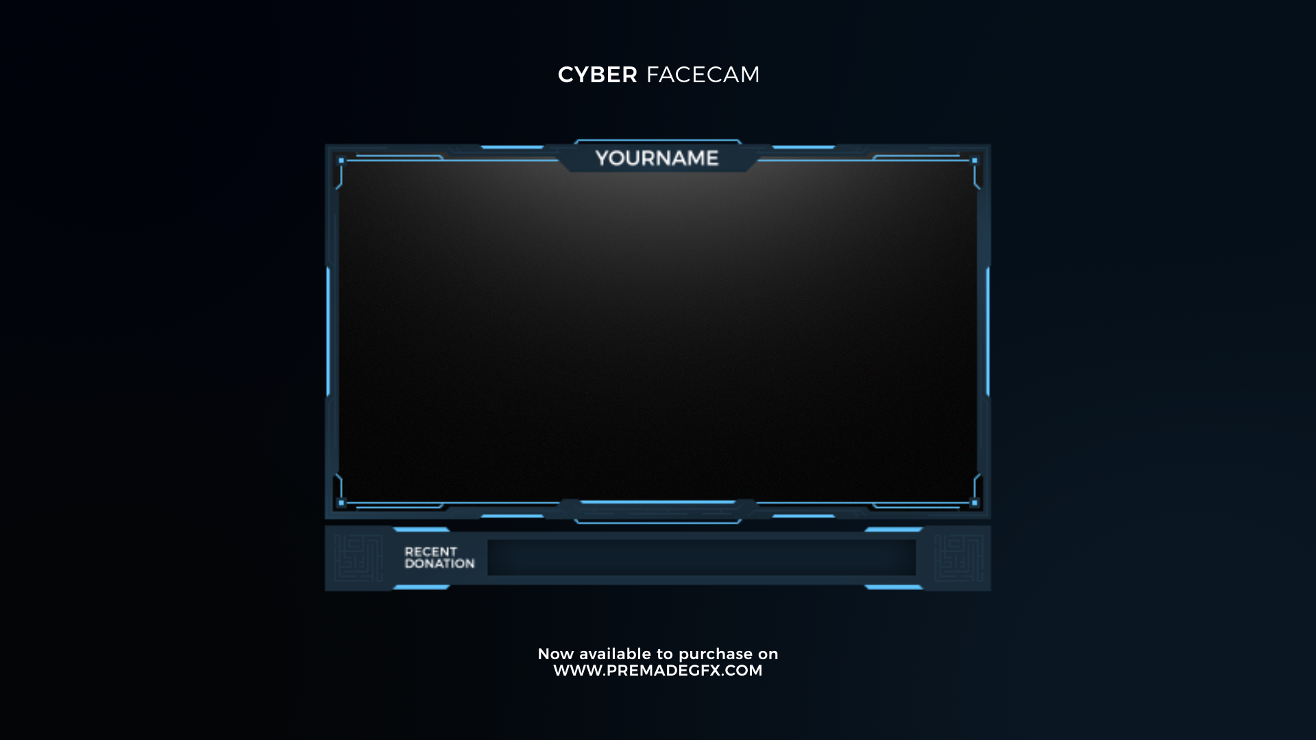 Cyber Animated Facecam Overlays, Animation, Youtube banners