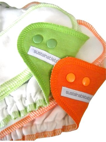 sustainablebabyish Organic Bamboo Fleece Fitted Diaper COLORS Supposed to be a GREAT nighttime diaper - Could buy a medium $26