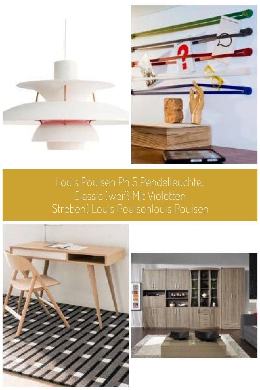 Louis Poulsen Ph 5 Pendelleuchte Classic Weiss Mit Violetten