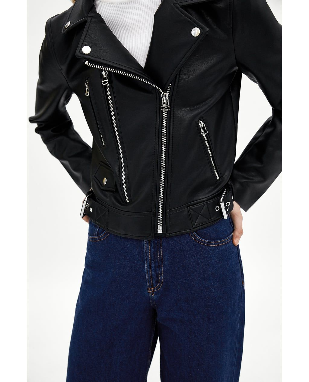 Image 6 of FAUX LEATHER BIKER JACKET from Zara (With