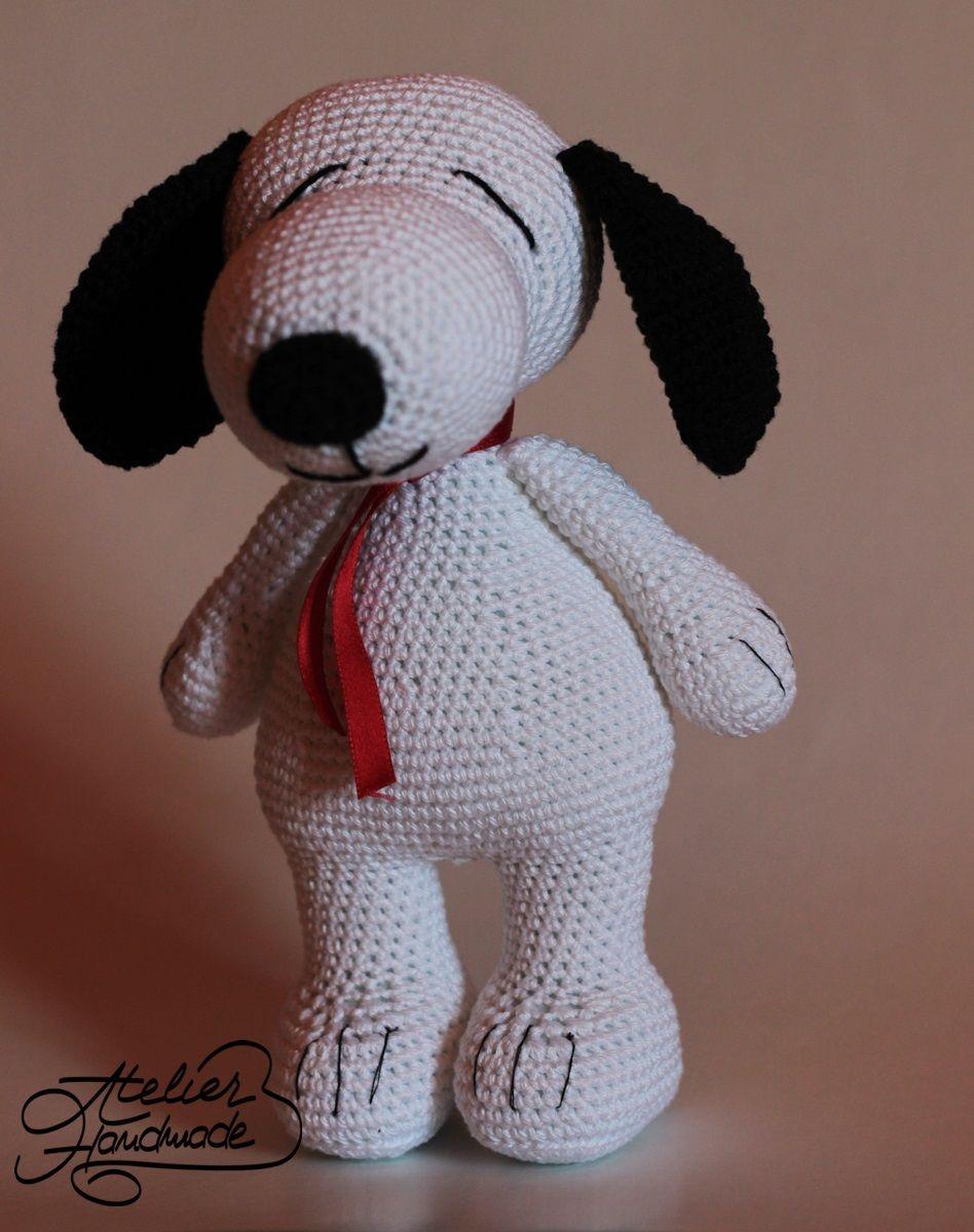 Free pattern Snoopy amigurumi. Tutorial gratuit pentru Snoopy. Cum ...