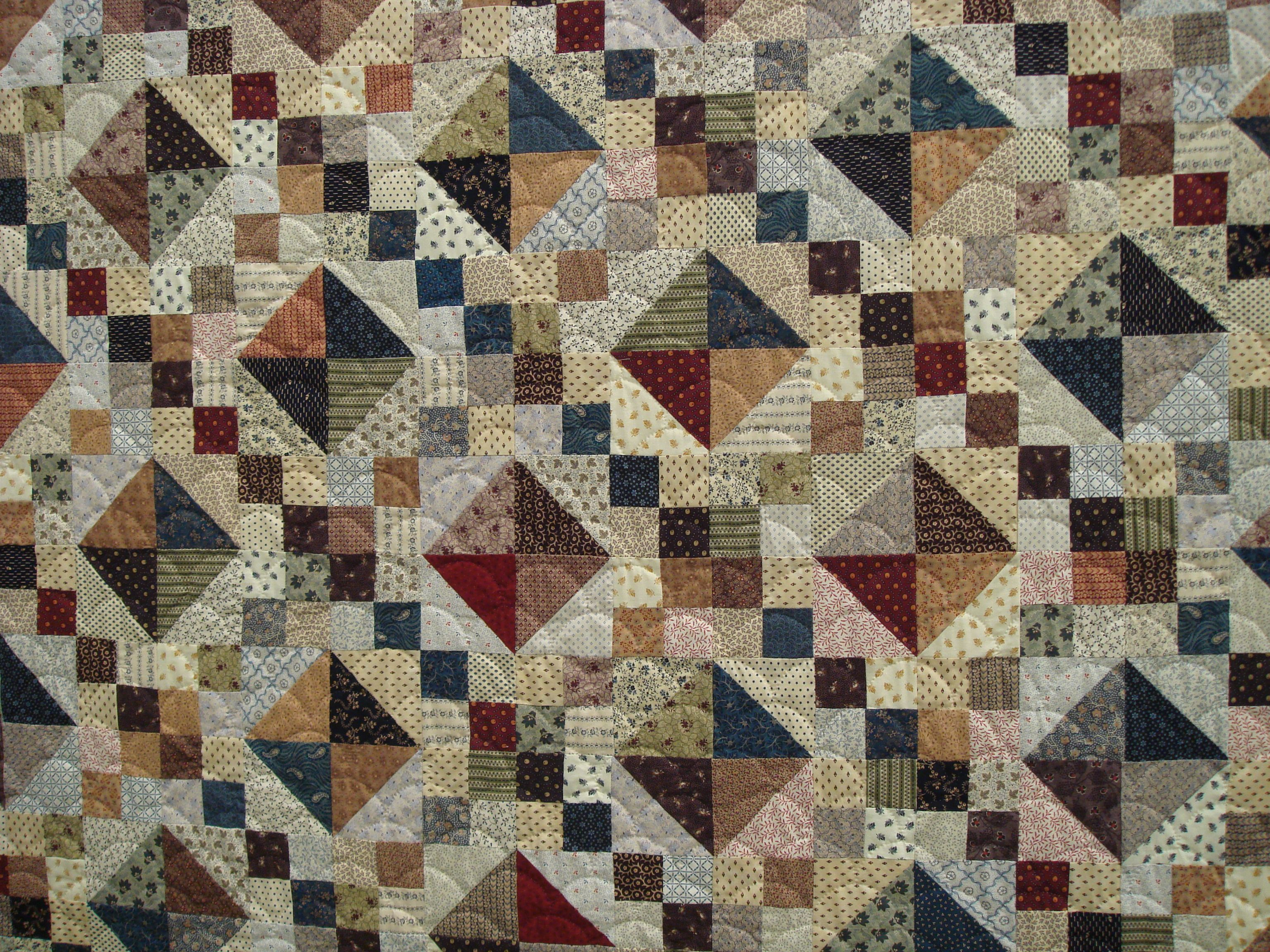 Two blocks - hourglass on point and double four-patch. | quilting ... : double patchwork quilt - Adamdwight.com