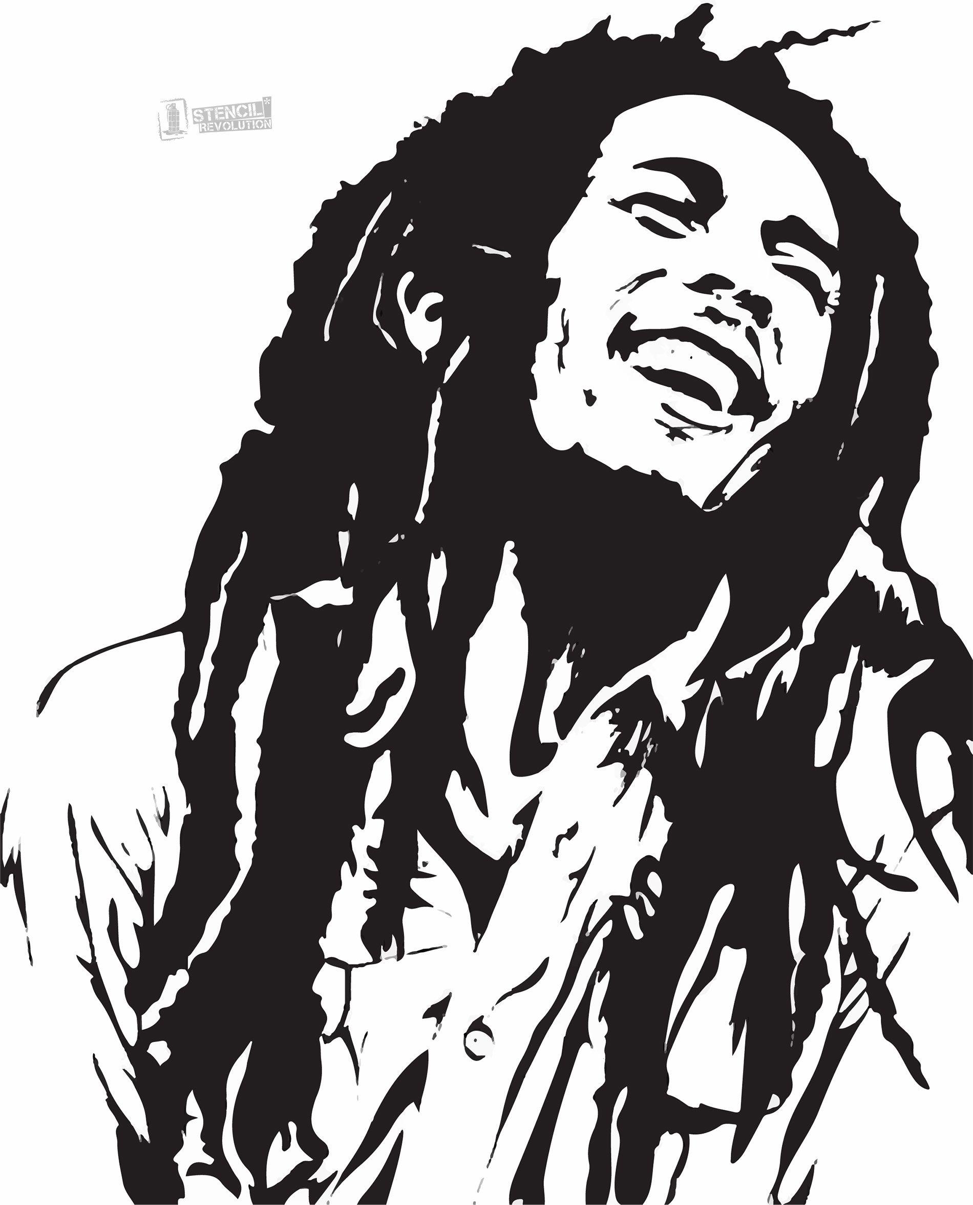 Bob Marley Stencil For Crafts Walls Bob Marley Art Bob Marley