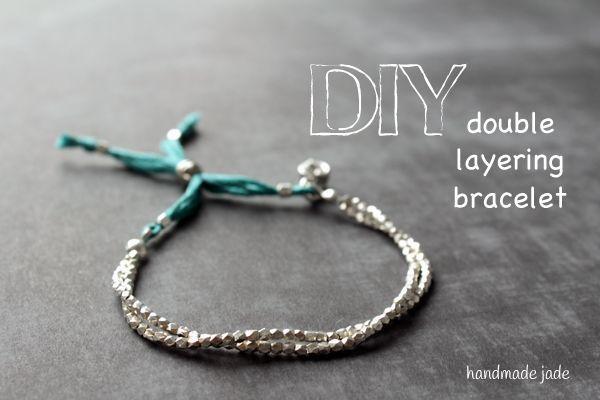 diy double layering bracelet tutorial