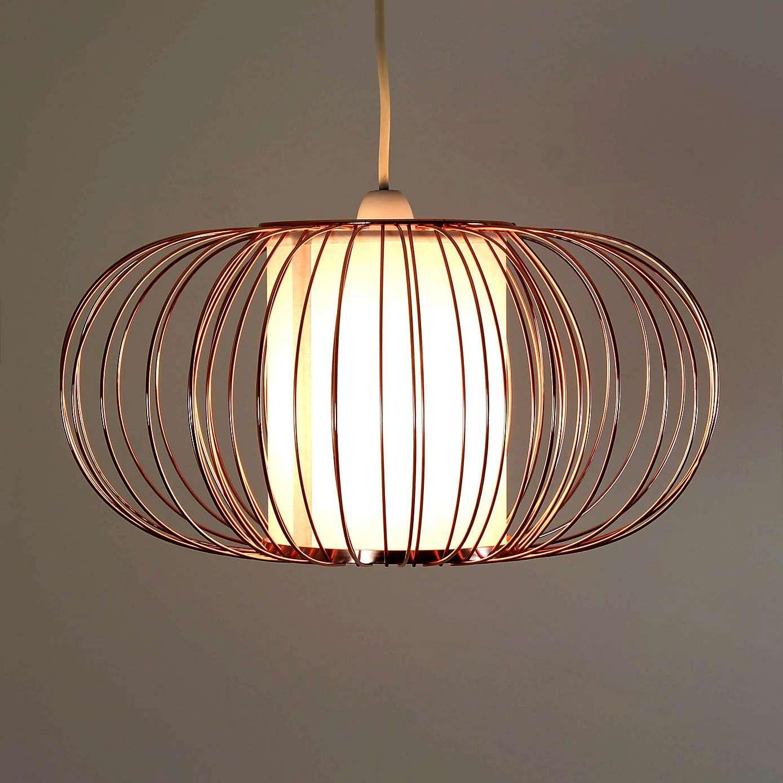 Ceiling Light Fittings Dunelm Mill: Nina Copper Frame Parchment Diffuser Pendant