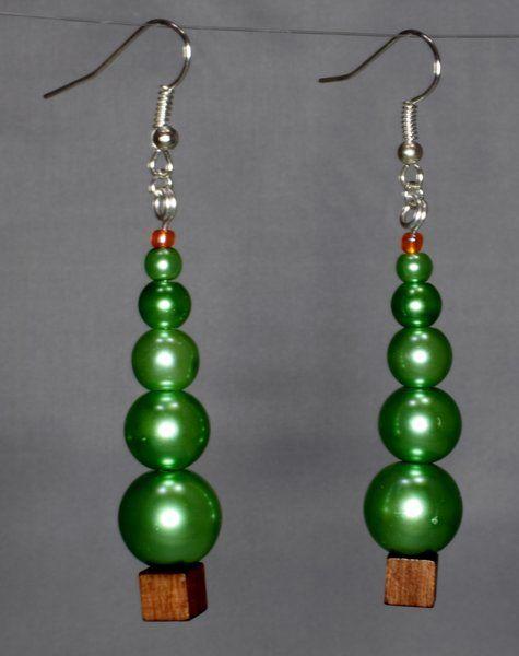 Christmas Tree Earrings. Fun Abstract Party Earrings.