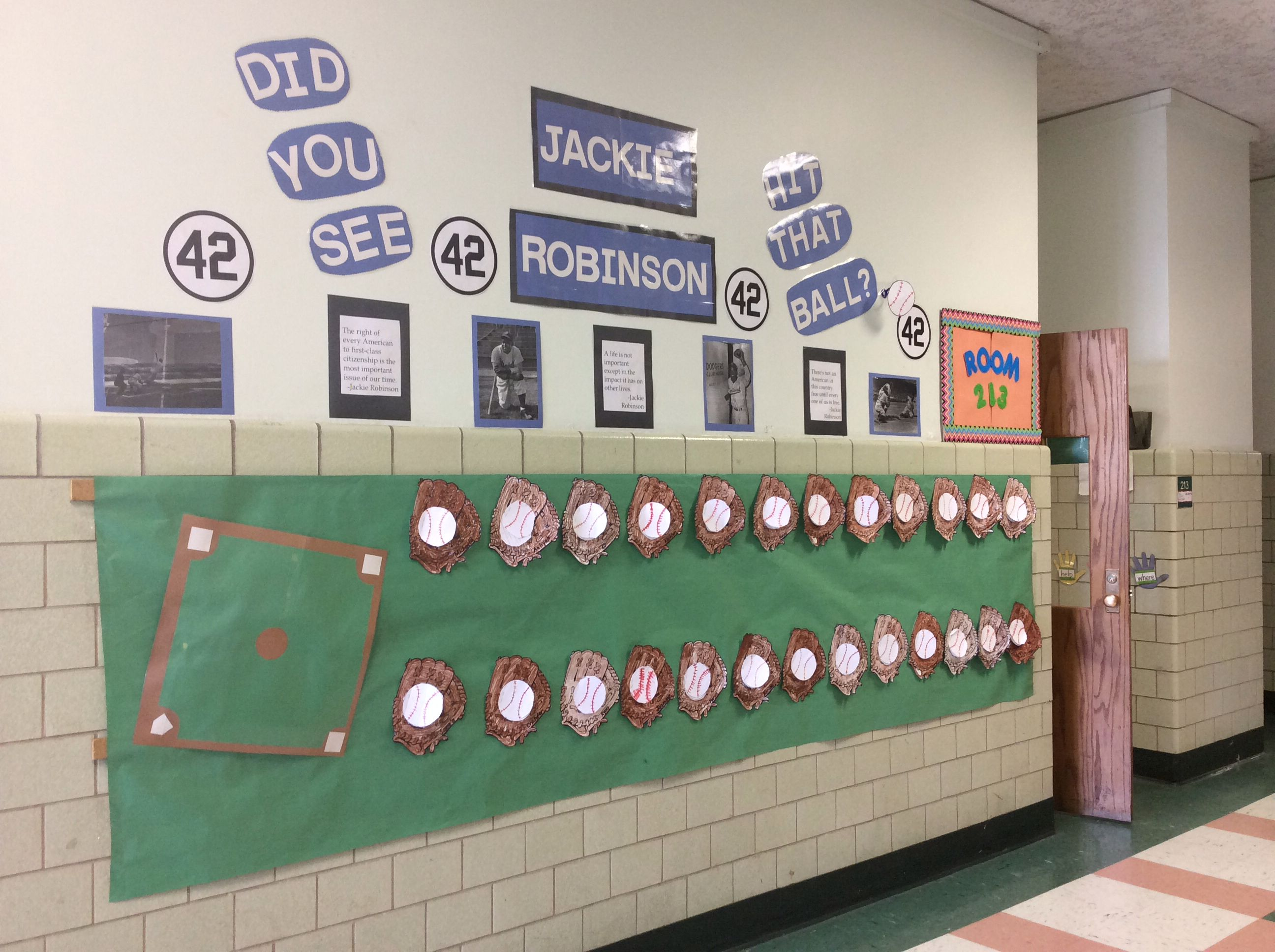 Jackie Robinson Bulletin Board There Are Facts About