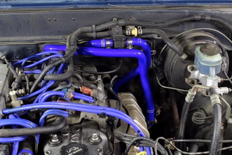 HPS Blue Silicone Heater Hose Kit For Toyota 85-95 4Runner 22RE Non