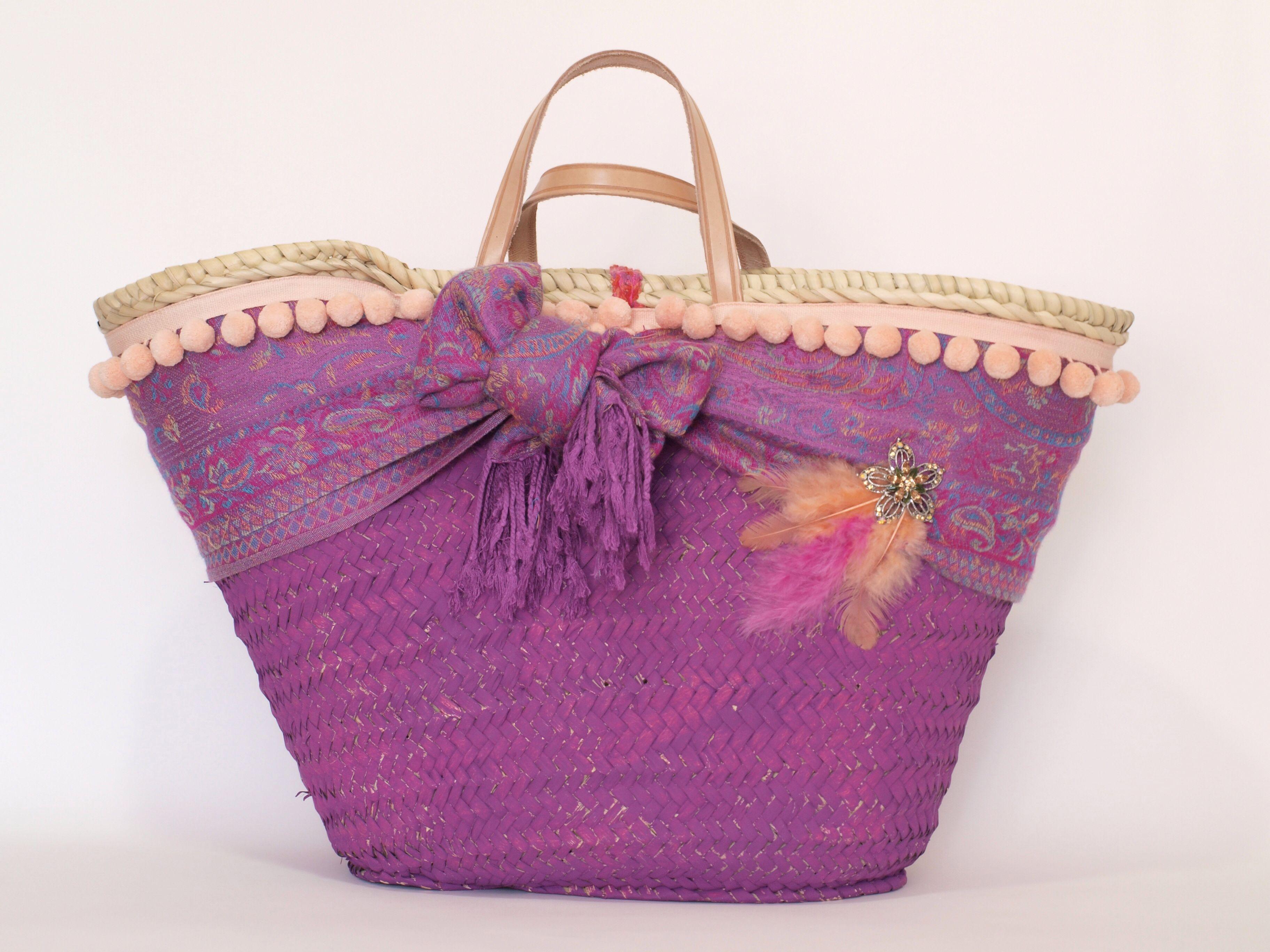decorar con broche un bolso de mano