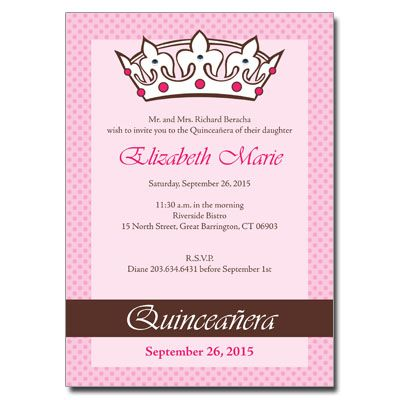 Top 25 ideas about Quinceanera Invitations and Save-the-Dates on ...