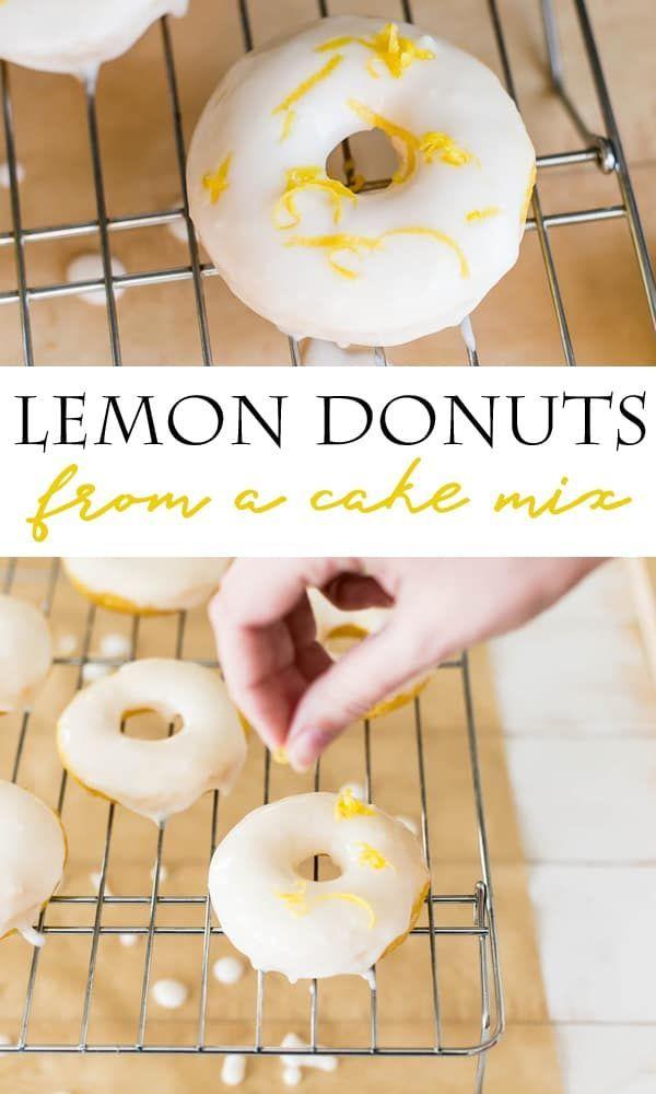 Easy to Make - Lemon Cake Mix Donuts