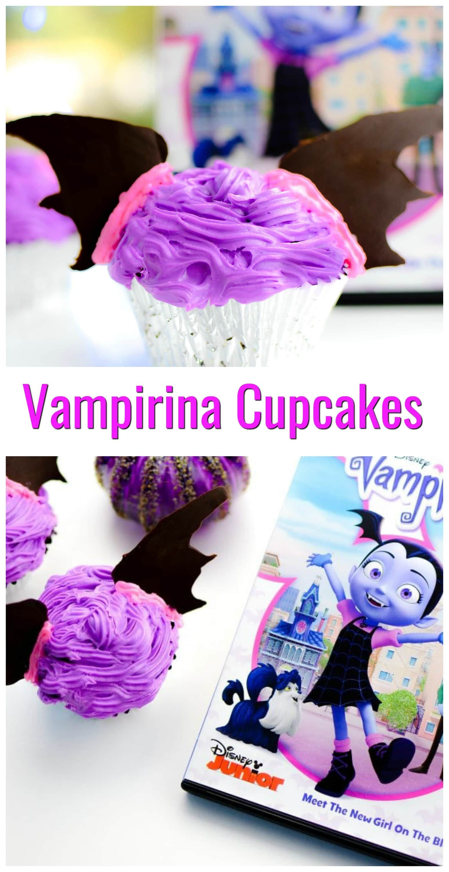 #VampirinaCupcakes That Are Perfect For A Vampirina Themed Birthday Party.  These Are A Great