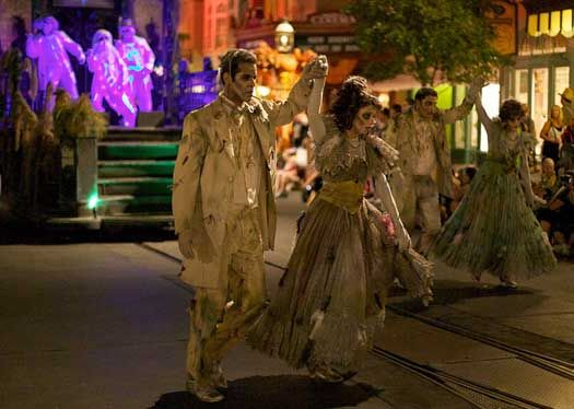 The Haunted Mansion Scene from the Boo to You Parade at Mickey's Not So Scary Halloween Party