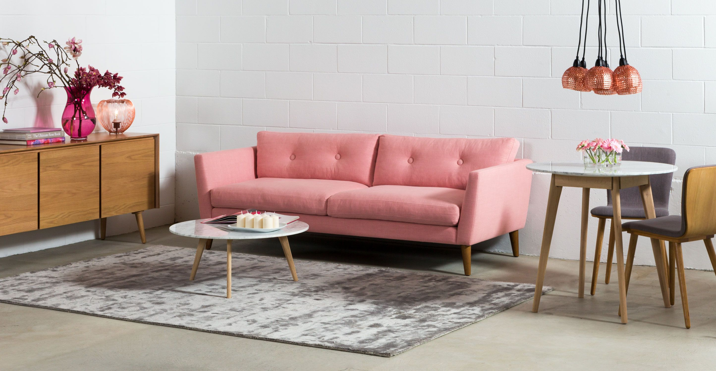 Emil Quartz Rose Sofa