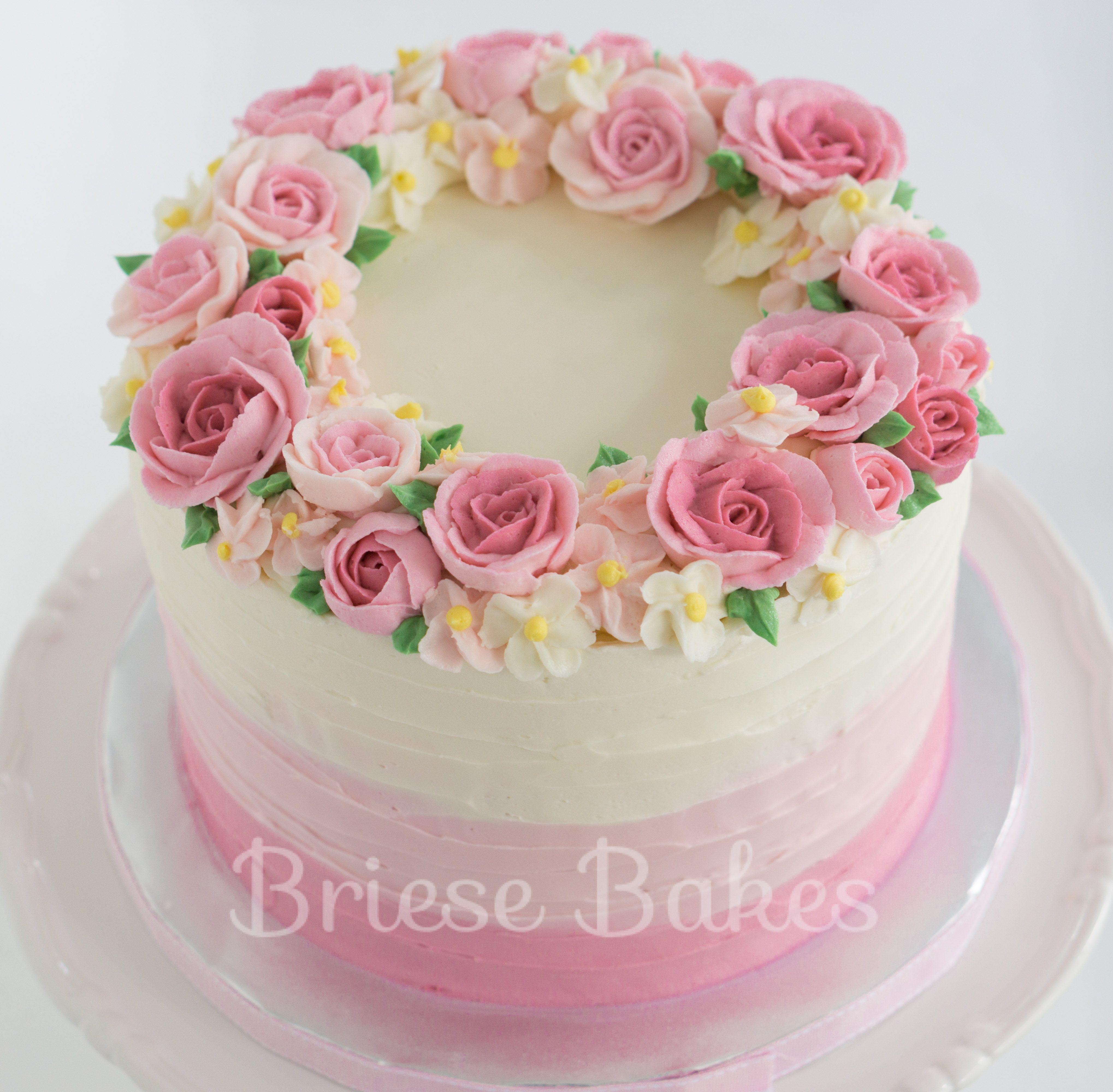 Astonishing Buttercream Flower Cake With Images Buttercream Cake Designs Funny Birthday Cards Online Hendilapandamsfinfo