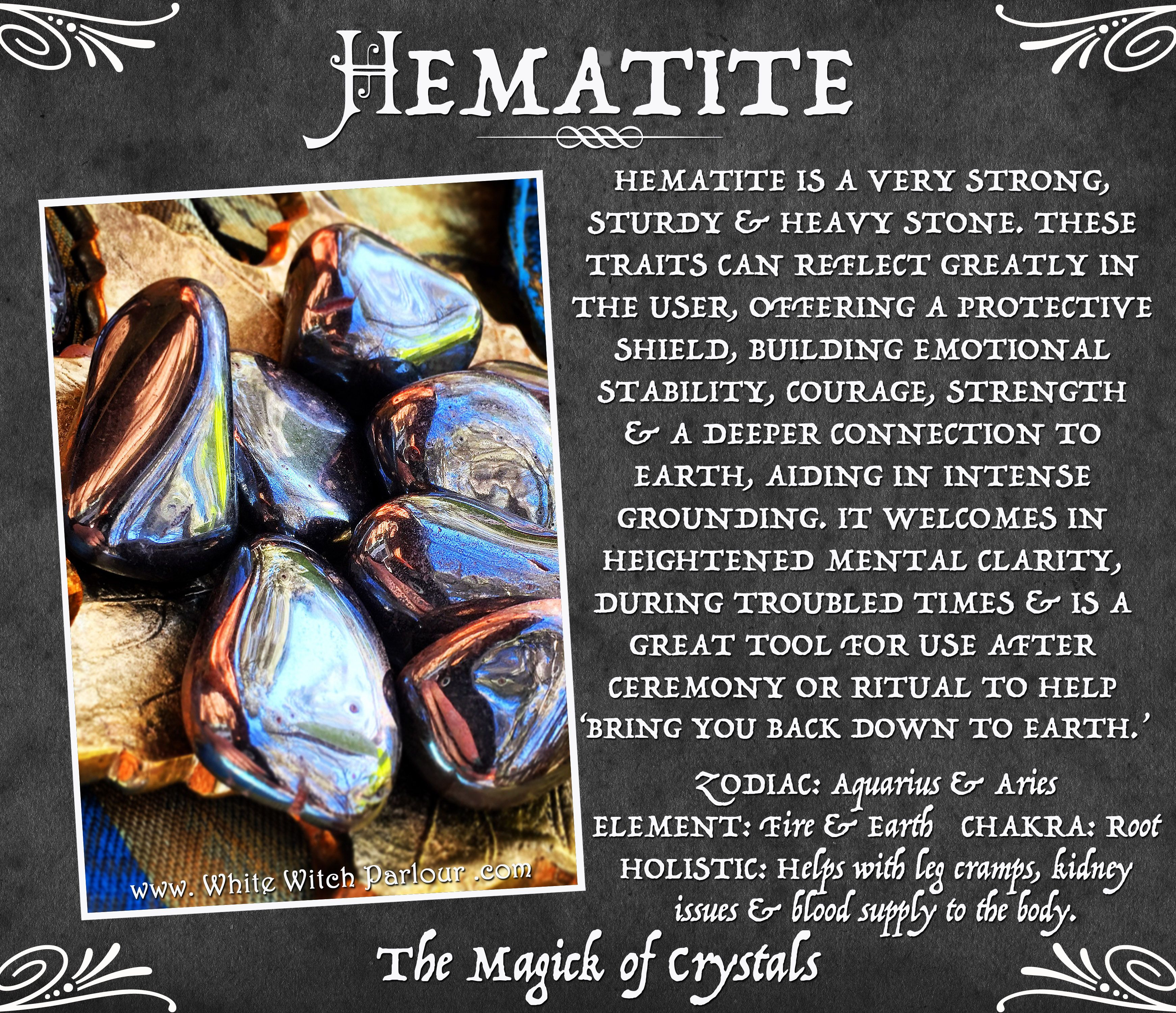 Hematite tumbled crystal for balance emotional stability hematite tumbled crystal for balance emotional stability grounding metaphysical wicca witch spells courage whitewitchparlour fandeluxe Images