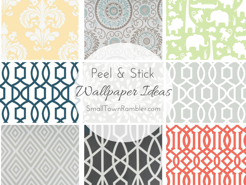 stuck on you: peel and stick wallpaper ideas   ideas, wallpapers