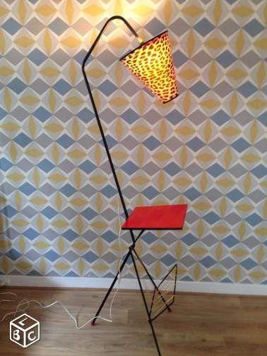 Lampadaire vintage tripode annee 50 Décoration Paris - leboncoinfr