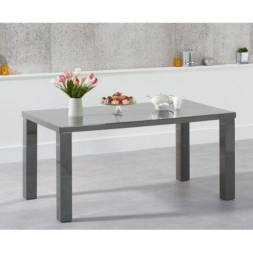 Essgruppe Crovetti mit 4 Stühlen und 2 Bänken 17 Stories Farbe (Tisch): Dunkelgrau, Farbe (Stühle): Schwarz, Farbe (Bank): Grau