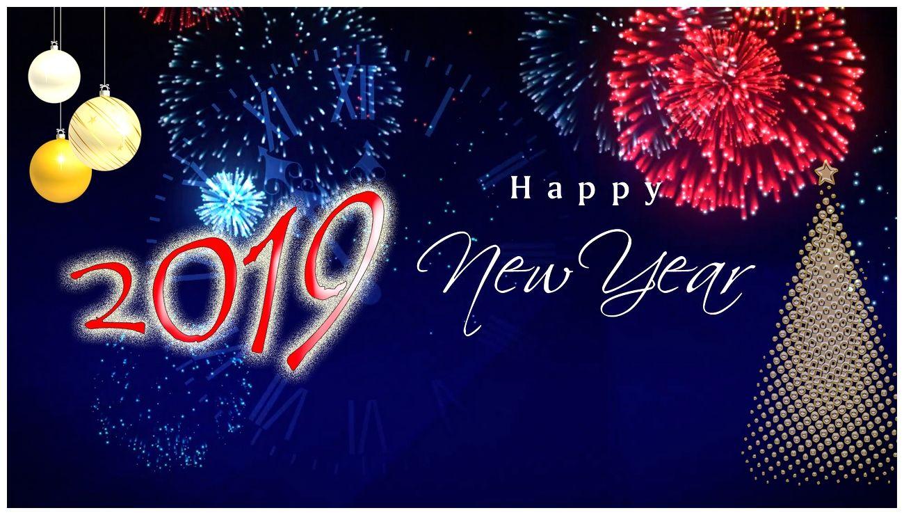 Happy New Year 2019 On Widescreen 4k Hd Desktop Wallpaper Free