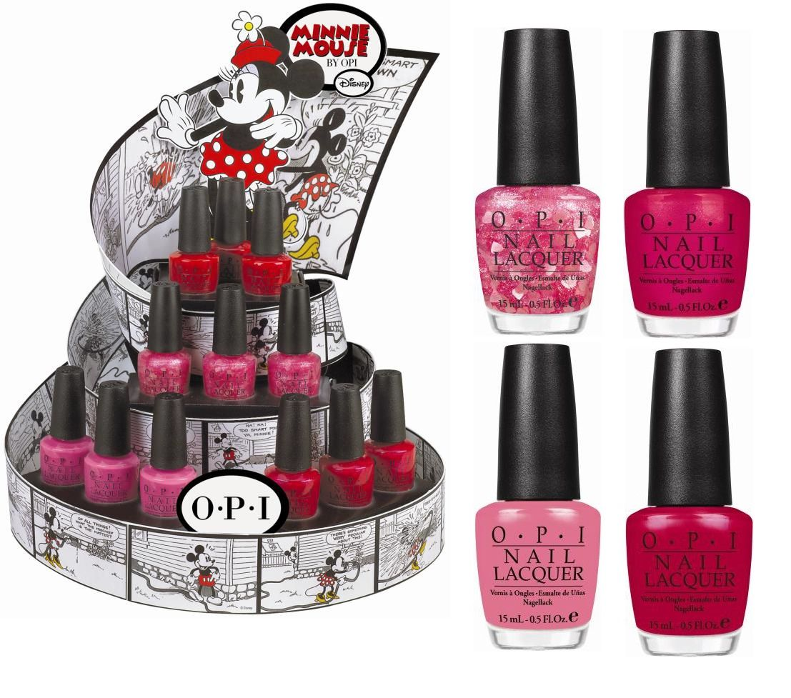 OPI Minnie Mouse Collection Nail polish baby shower