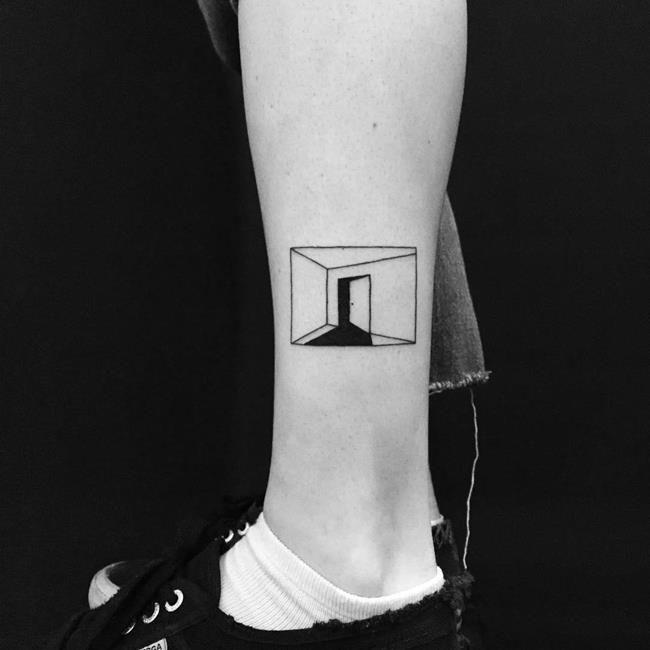 Yi Stropky'den 30+ Siyah Beyaz Dövme Modeli ile Minimal Örnekler #tattoodrawings