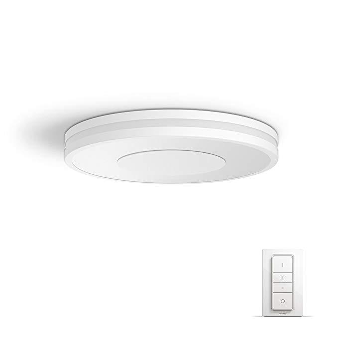 Philips Hue Led Ceiling Light 35 X 35 X 5 Cm Amazon De