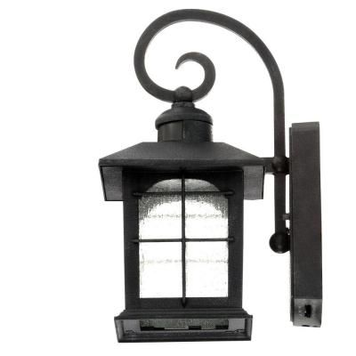 Home Decorators Collection Aged Iron Motion Sensing Outdoor Led Wall Lantern Sconce Hb7251 292 Wall Lantern Home Decorators Collection Outdoor Wall Lantern