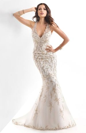 Find At Casa Di Bella Bridal Boutique In Celebration Fl The Lavish Embroidery And Sparkling Beads Of This Fit Flare Gown Capture Dramatic Flair