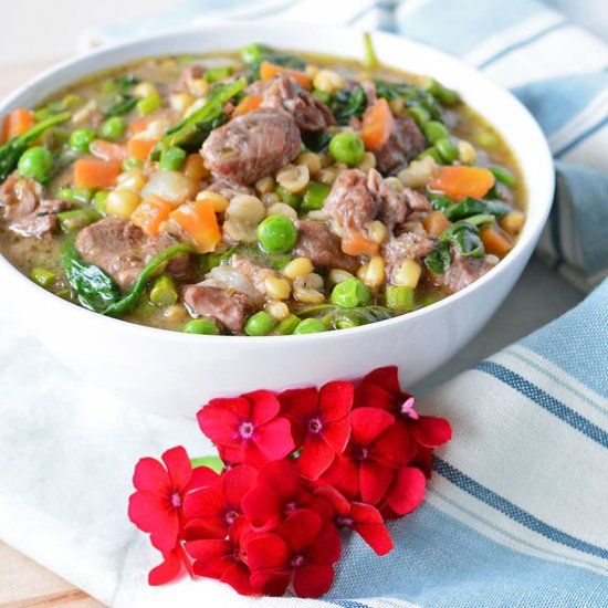 Spring Lamb Stew Is A Fresh And Earthy Stew That Fills And Nourishes Hungry  Bellies.