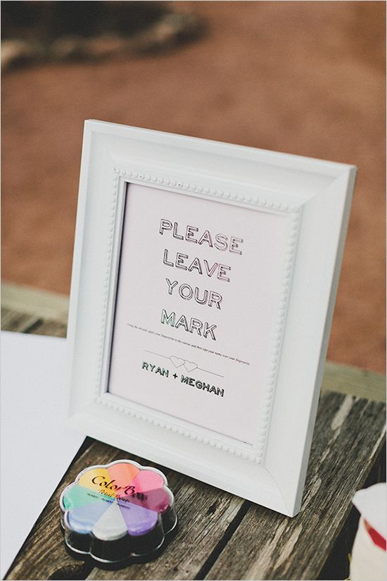 Rustic pink wedding at three points ranch fingerprint guestbook sign ideas sciox Images