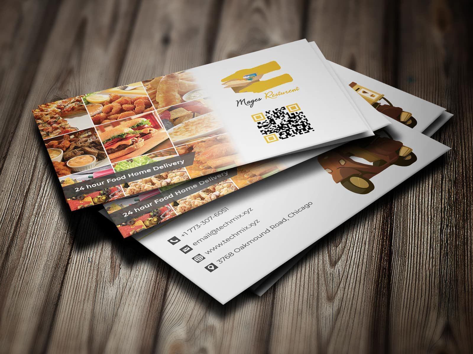 Food Delivery Business Card Restaurant Business Cards Food Delivery Business Food Delivery