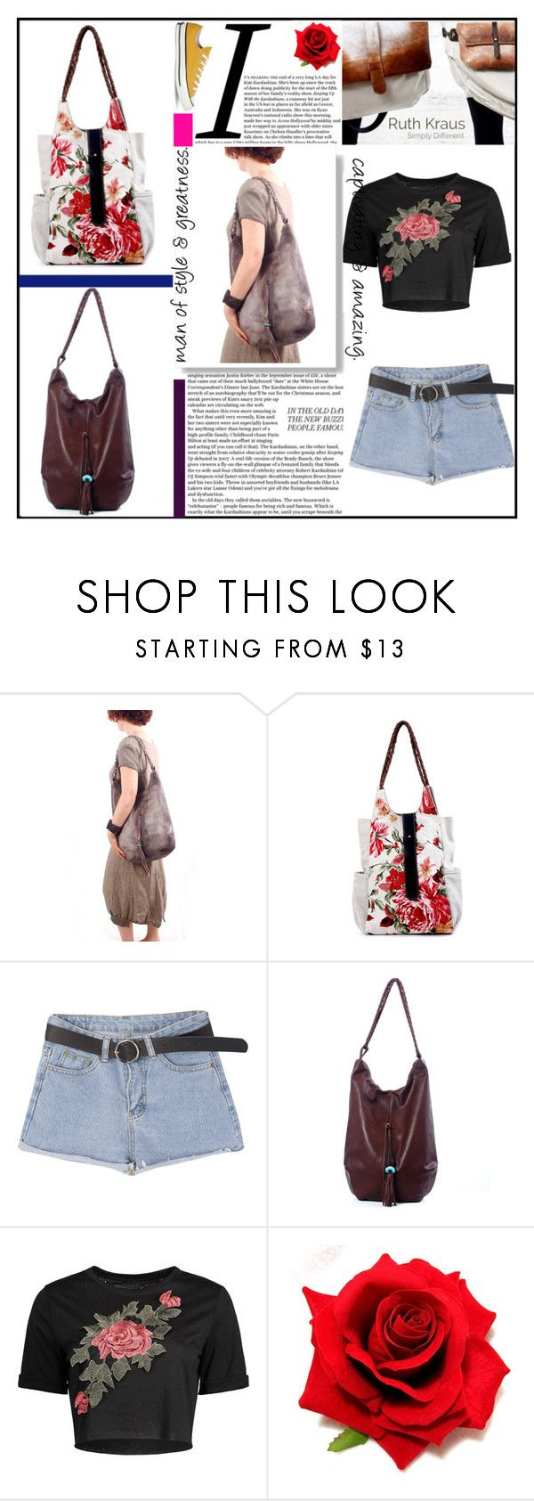 """""""Large RuthKraus bags"""" by zehrica-kukic ❤ liked on Polyvore featuring Converse"""