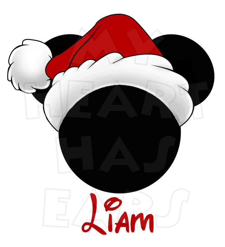 b87dd0940b57f Printable DIY Christmas Santa Hat Mickey Mouse by MyHeartHasEars ...