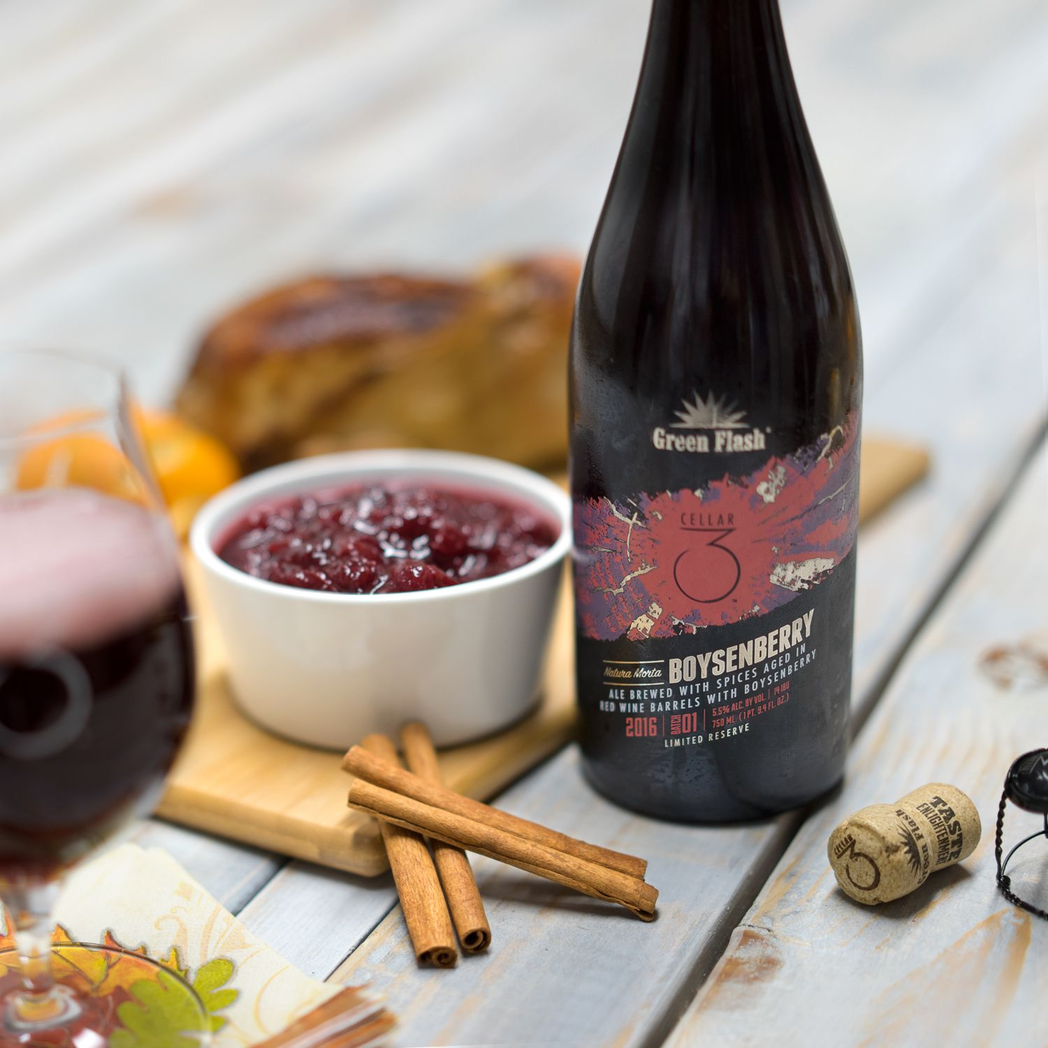 Cranberry Sauce With Natura Morta Boysenberry Beer 2 12oz Packages