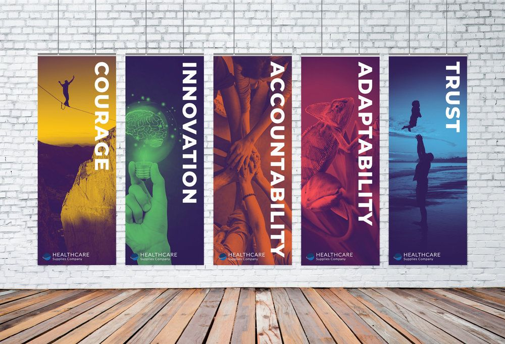 Core Value Banners Series For National Health Care Supply