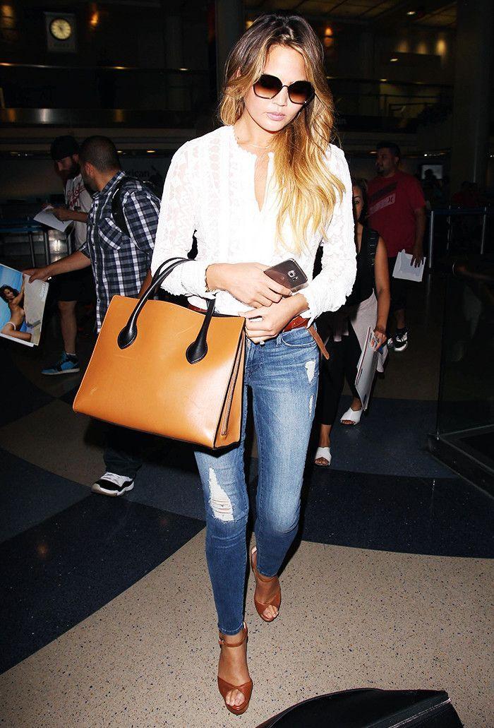 62ad6b809 Para as mulheres que querem um estilo mais moderno e despojado, a modelo  Chrissy Teigen