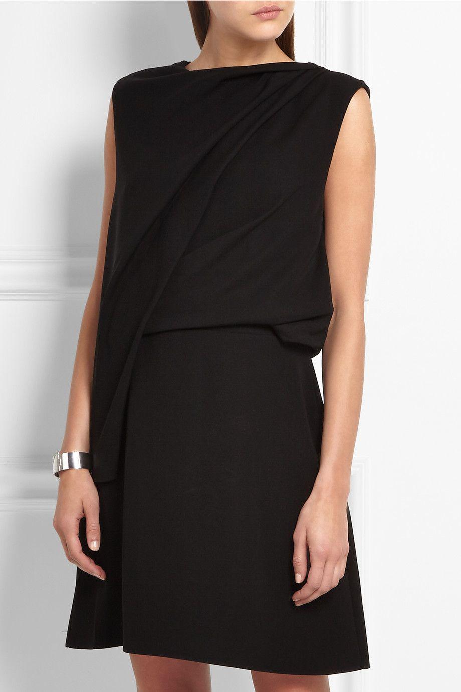 McQ Alexander McQueen - Draped crepe mini dress