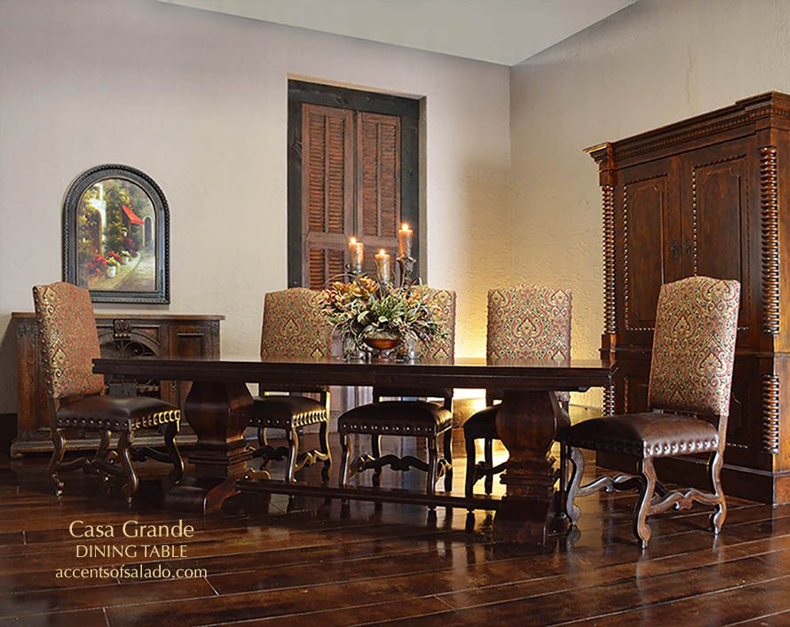 Tuscan Dining Table/Chairs at Accents of Salado ONLINE | Tuscan ...