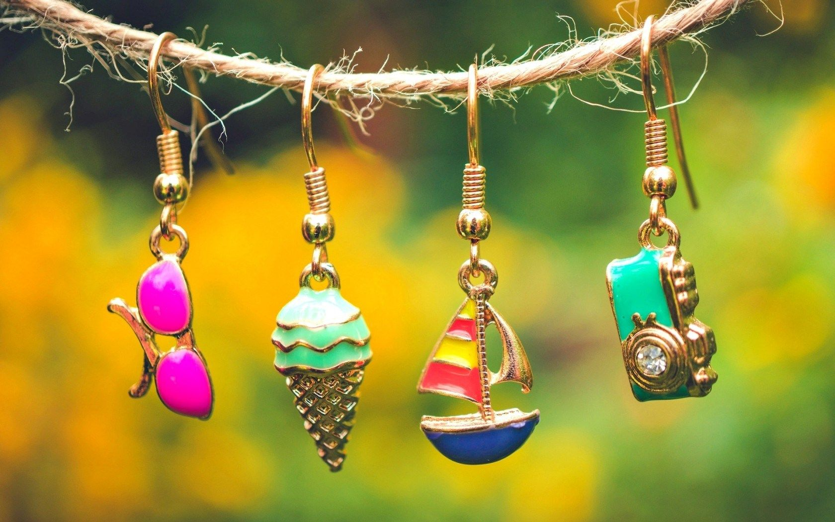 Colorful Earing Haging On Rope Photography Amazing Wallpapers HD Beautiful 1080p Desktop Free Background Latest Nice Images Picture