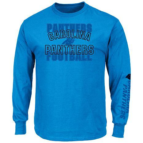 45471fa05ebfd Show off your fandom when you put on this Carolina Panthers Primary  Receiver T-shirt from Majestic. - Regular Fit: Not too slim, not too loose.