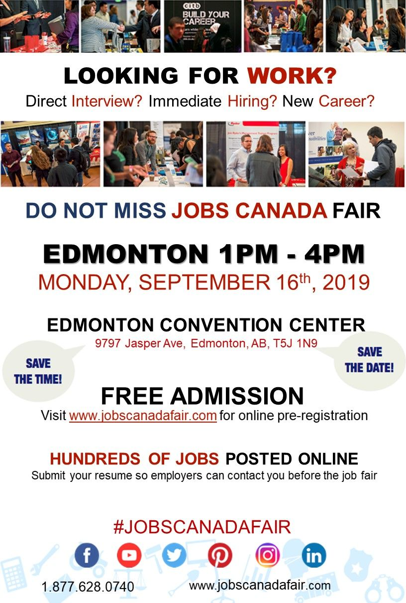 Looking for a job? Direct interview? EdmontonJobFair