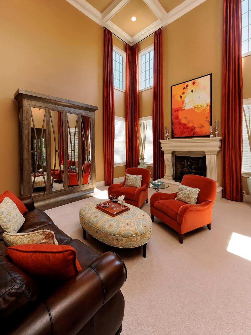 Best Home Staging Tips For Fall Living Room Orange Living 400 x 300