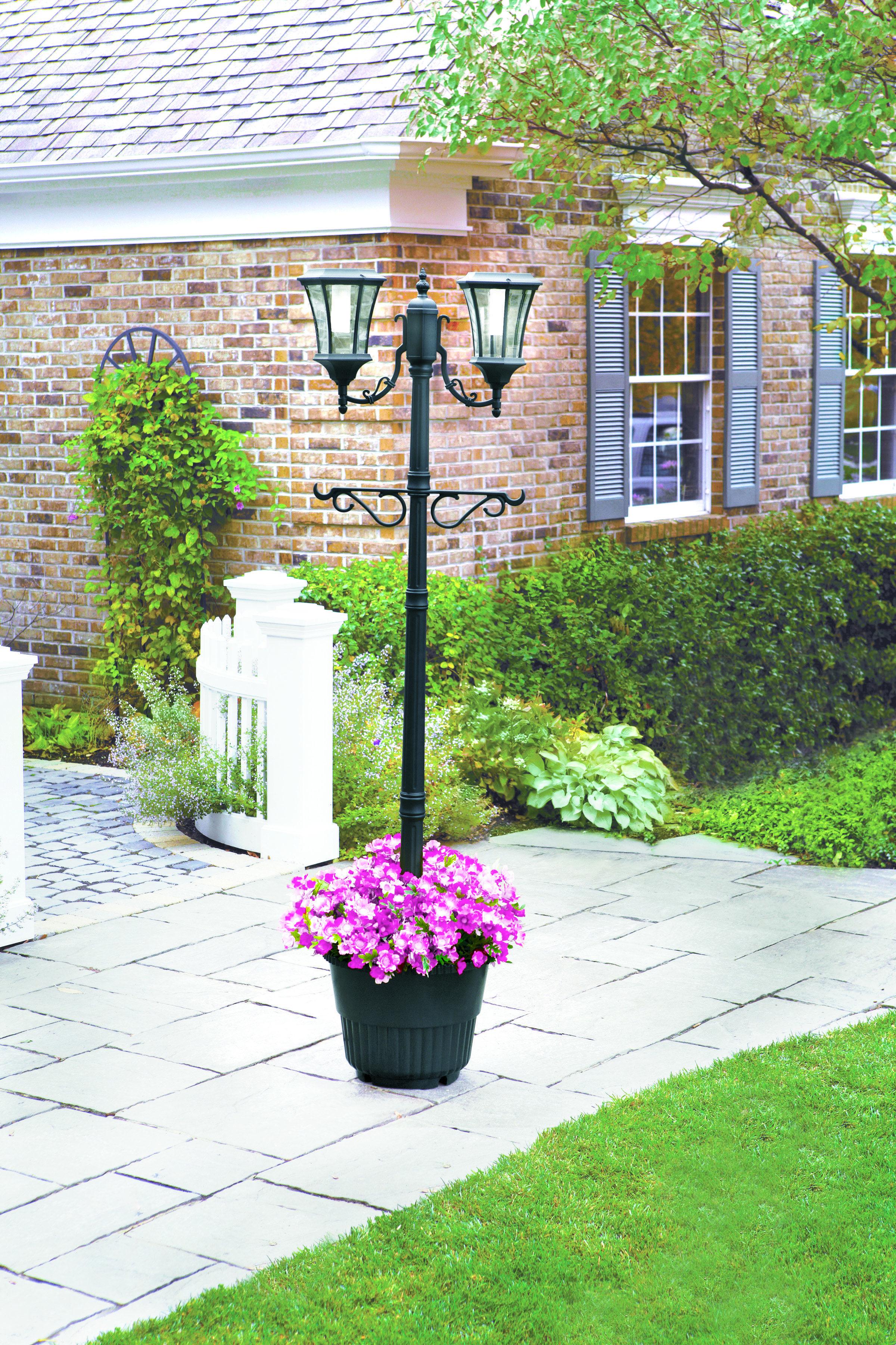 cfm baytown solar lamp sonic gama post baytownsolarlamppostwithplanter planter with product hayneedle master
