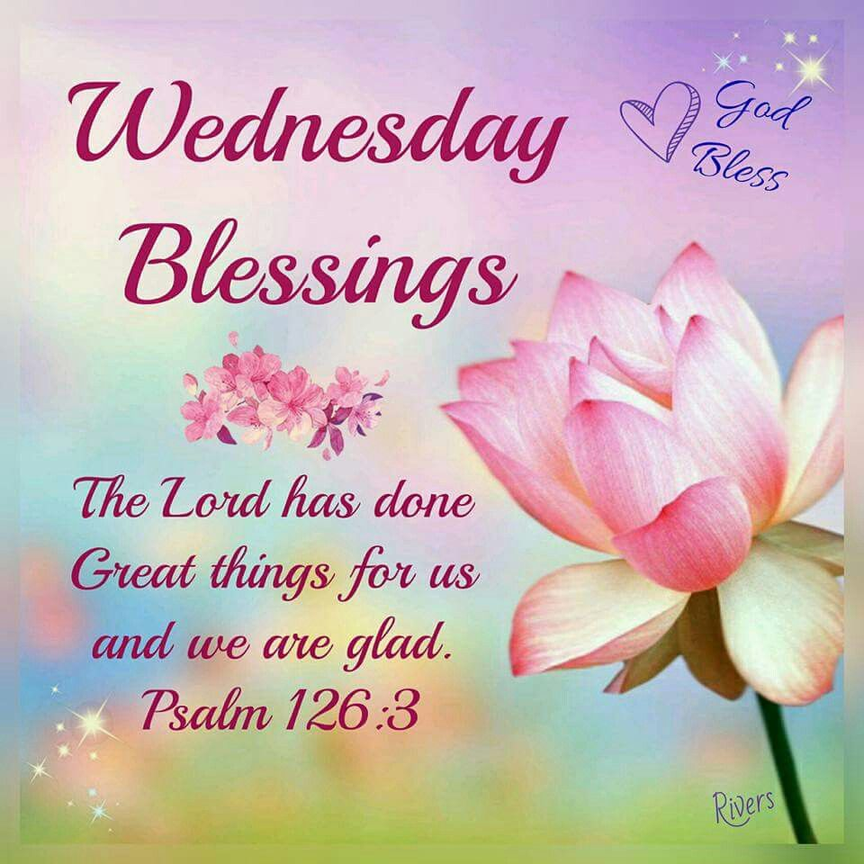 Days Of The Week Morning Blessings Wednesday