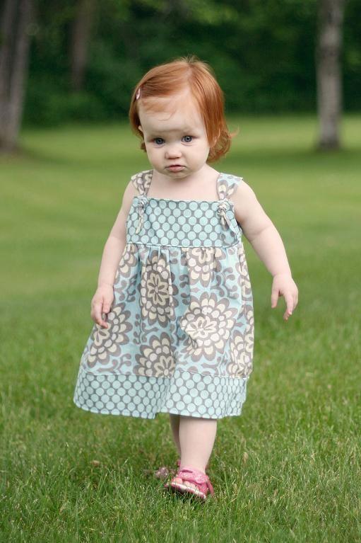 Apron Knot Dress Sewing Pattern 3m-8 | Pinterest | Girl stuff, Knot ...